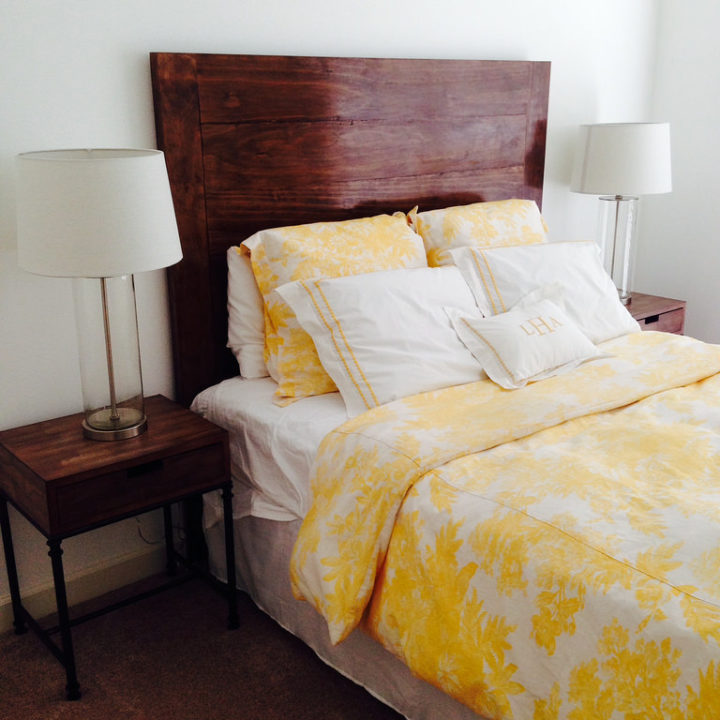 Stained Pine Headboard